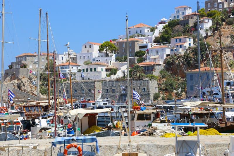 Casas gregas fotografia de stock