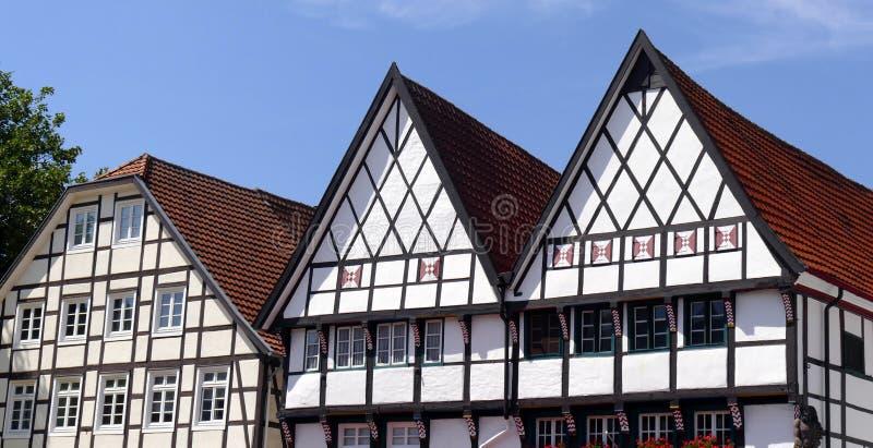 Casas Half-timbered imagenes de archivo