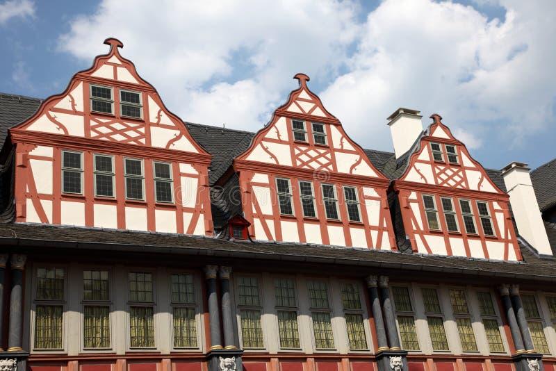 Casas half-timbered alemanas foto de archivo