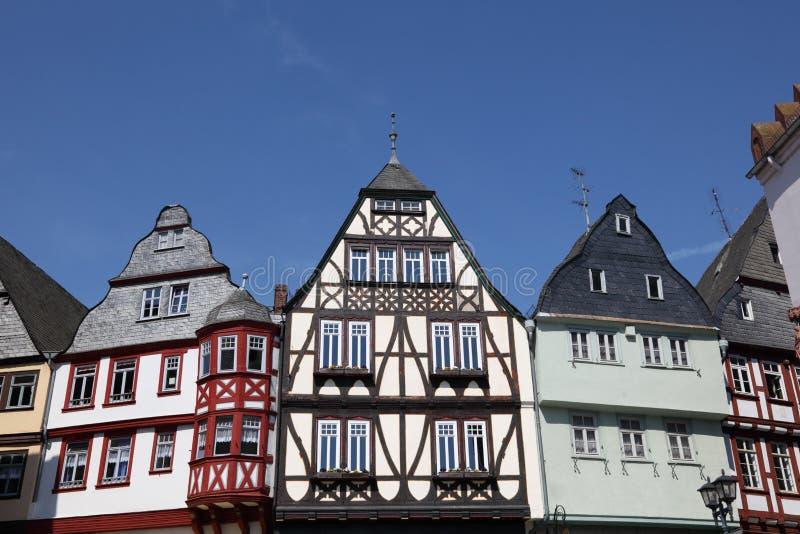 Casas half-timbered tradicionales fotografía de archivo