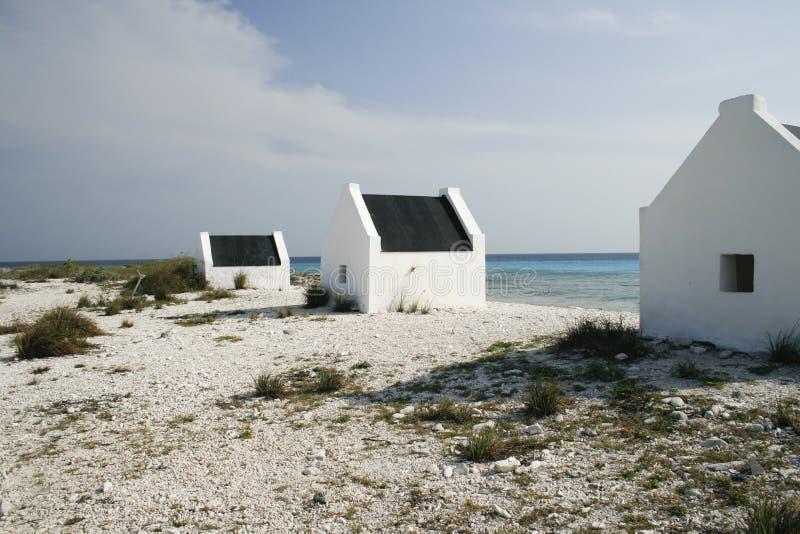 Casas históricas do escravo em Bonaire fotos de stock royalty free