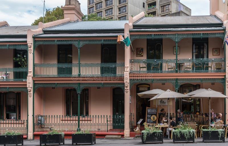 Casas históricas en George Street, Sydney Australia fotografía de archivo