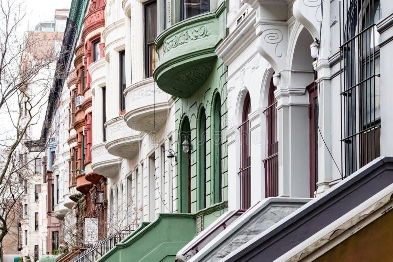 Casas históricas no Upper West Side de Manhattan, New York City imagem de stock