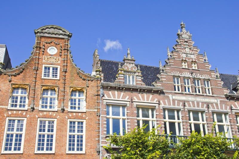 Casas holandesas típicas em Haarlem foto de stock royalty free