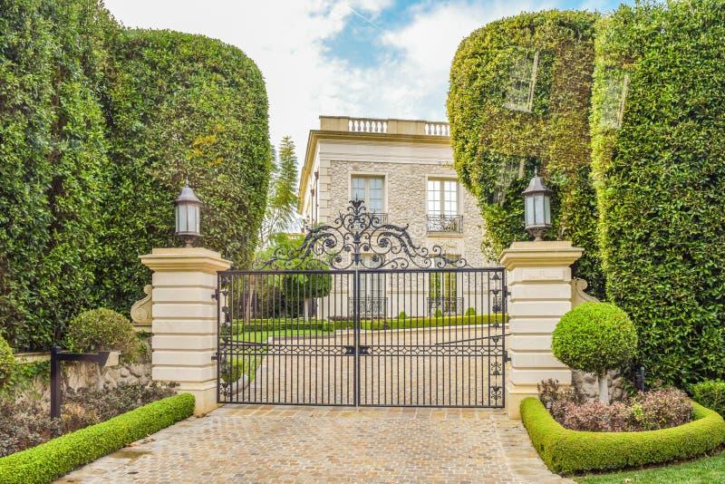 Casas ideales Beverly Hills de California imagen de archivo
