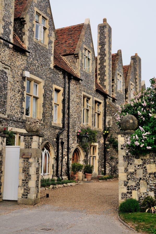 Casas inglesas en Cantorbery foto de archivo