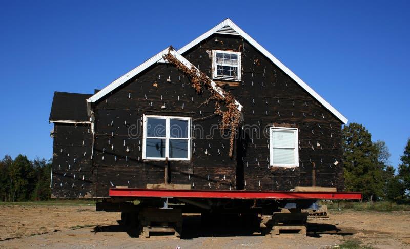 Casas listas para ser movido imágenes de archivo libres de regalías
