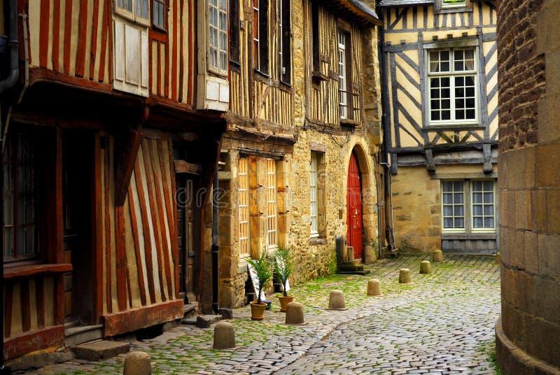 Casas medievais fotografia de stock