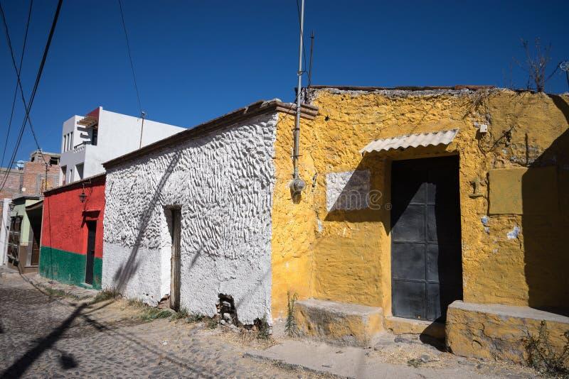 Casas mexicanas em San Miguel de Allende fotografia de stock