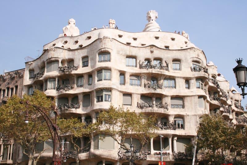 Casa Mila - Barcelona imagens de stock