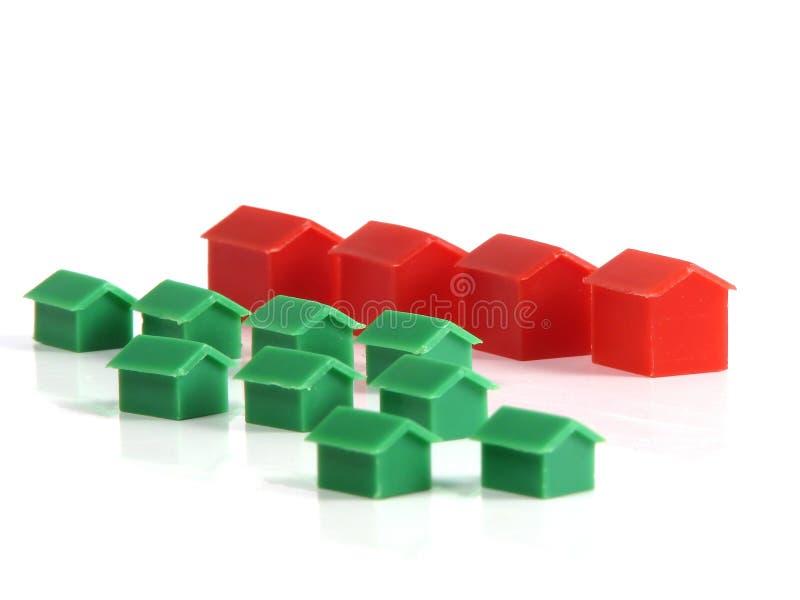 Casas modelo imagens de stock