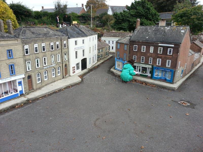 Casas modelo da miniatura da vila fotos de stock royalty free
