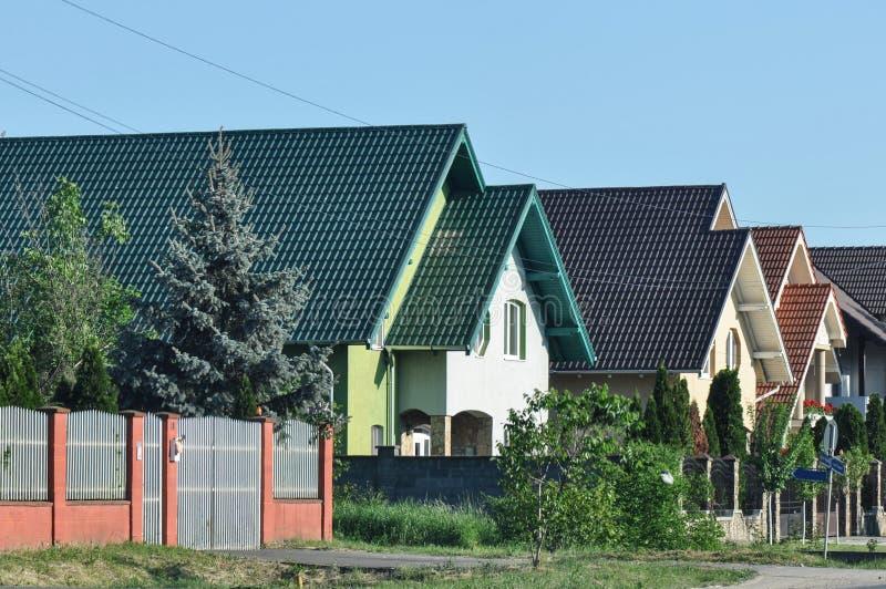 Casas modernas foto de archivo