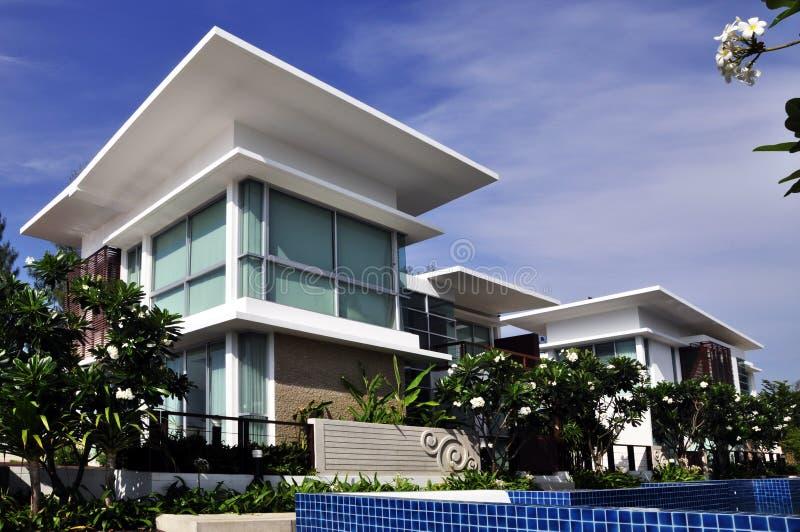 Casas modernas foto de stock royalty free