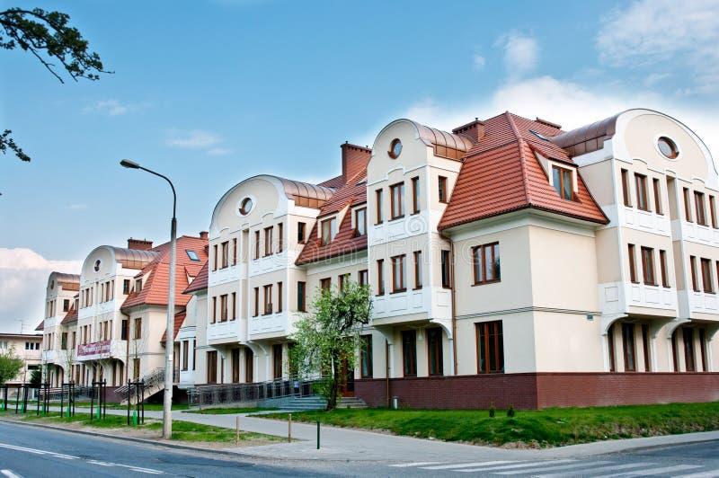 Casas modernas luxuosos imagens de stock royalty free