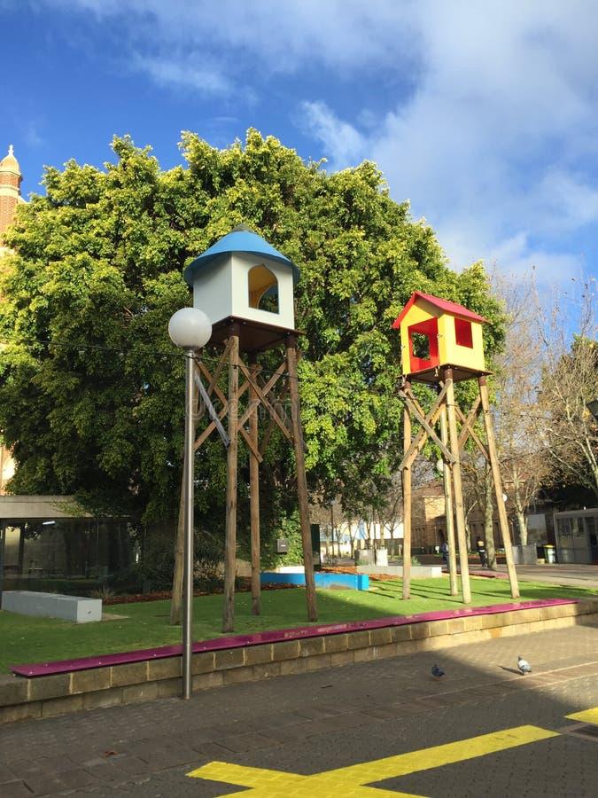 Casas na árvore de Perth imagens de stock royalty free