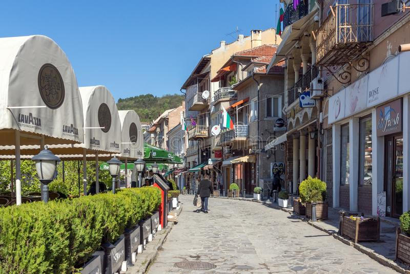 Casas na cidade velha da cidade de Veliko Tarnovo, Bulgária imagens de stock
