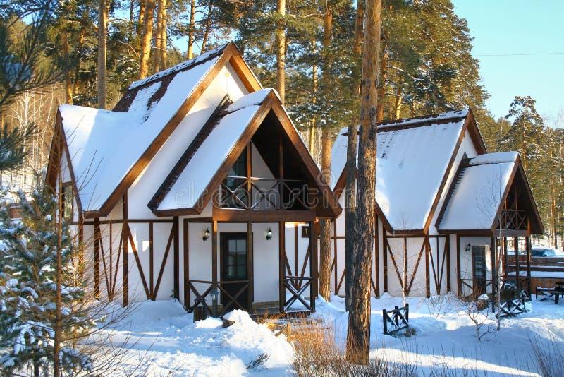 Casas na floresta foto de stock royalty free