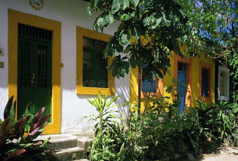 Casas no forte Brasil das casas fotos de stock