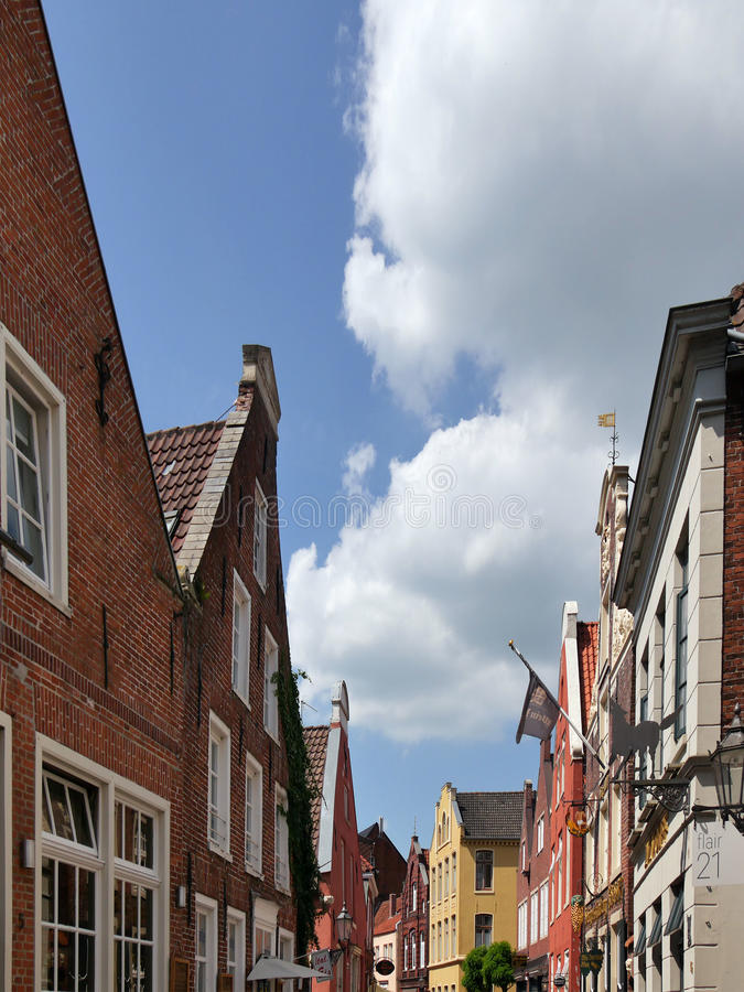 Casas no olhar de soslaio, Alemanha imagem de stock