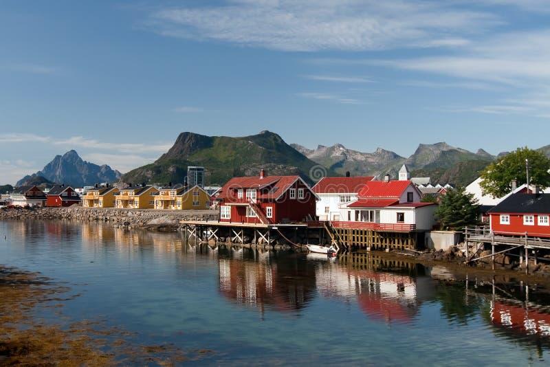 Casas noruegas imagen de archivo libre de regalías
