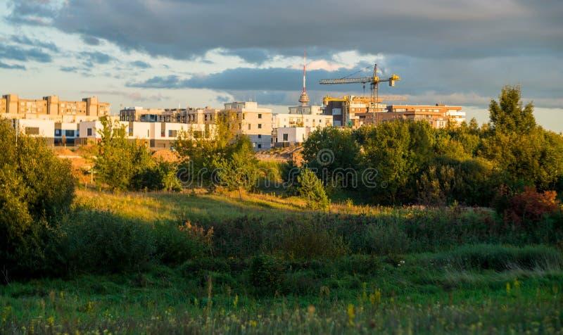 Casas novas do distrito de Pilaite imagem de stock royalty free
