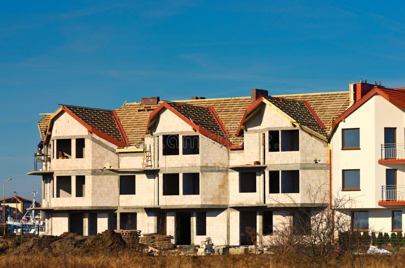 Desenvolvimento das casas novas foto de stock
