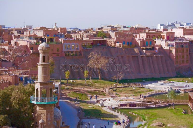 Casas populares de la alta plataforma en Kashgar fotografía de archivo libre de regalías