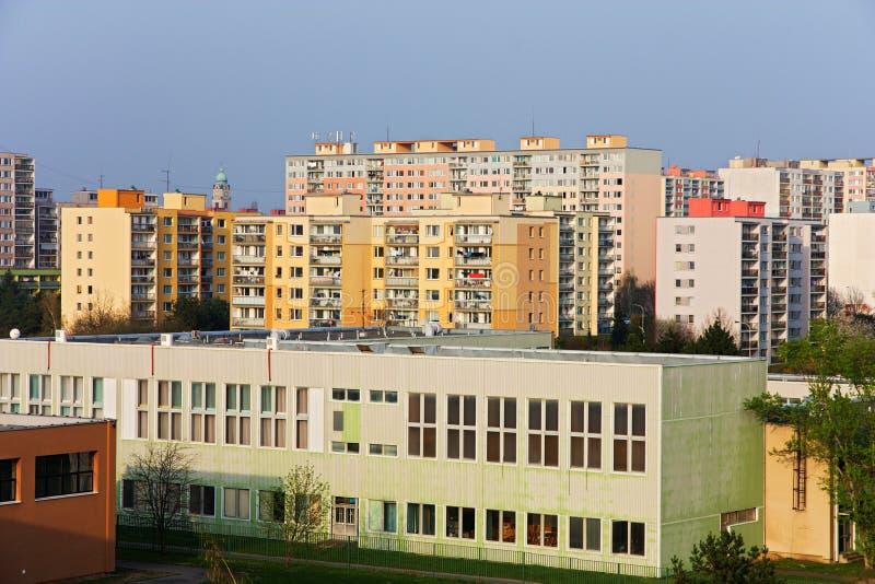 Casas prefabricadas en Praga fotografía de archivo