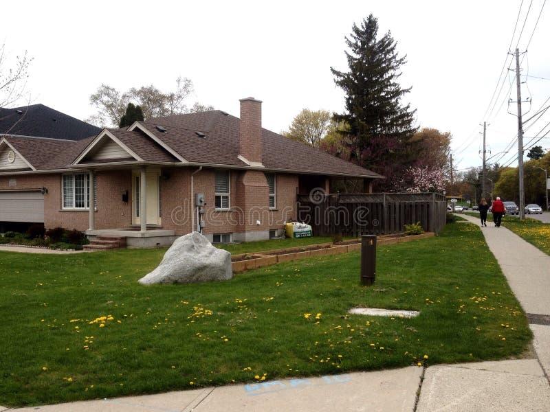 Casas privadas em Guelph foto de stock