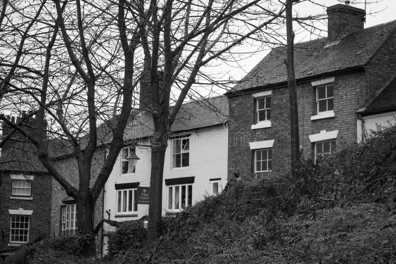 Casas, puente del hierro, Shropshire, Inglaterra Reino Unido foto de archivo libre de regalías