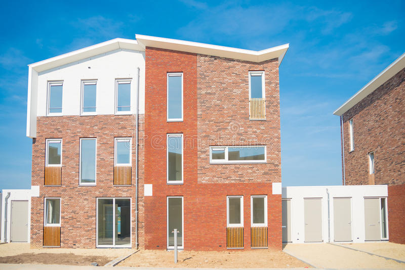 Casas recentemente construídas foto de stock royalty free
