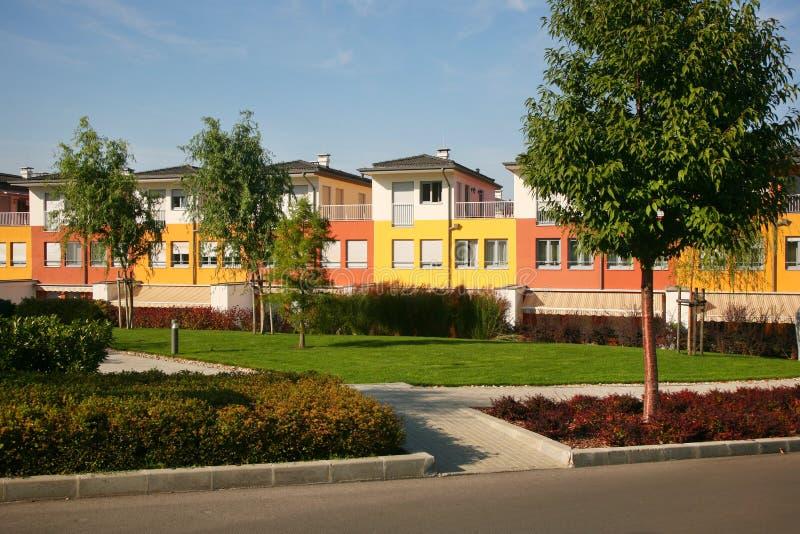 Casas residenciais imagem de stock