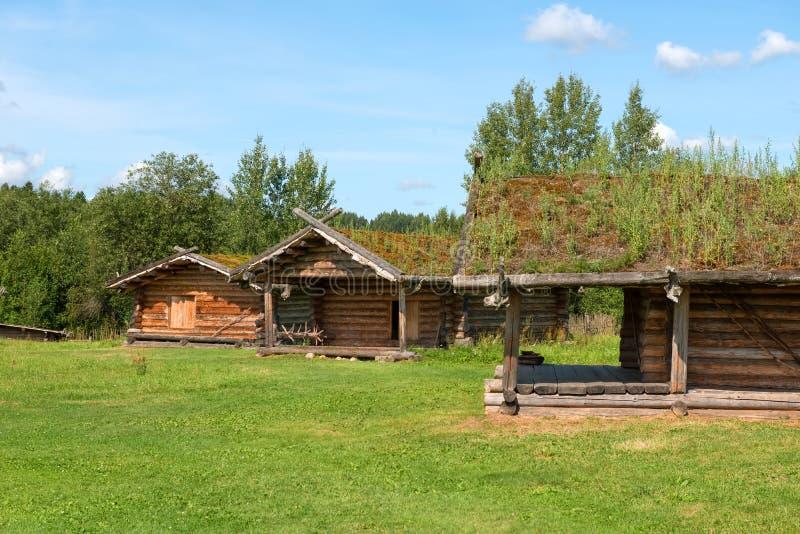 Casas residenciais do século X fotos de stock