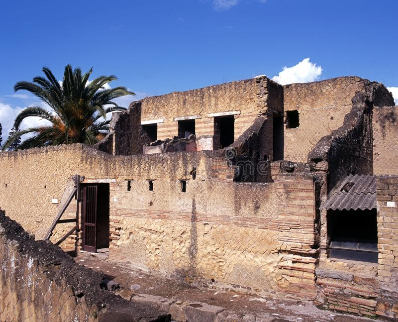 Casas romanas, Herculaneum, Italy. fotografia de stock