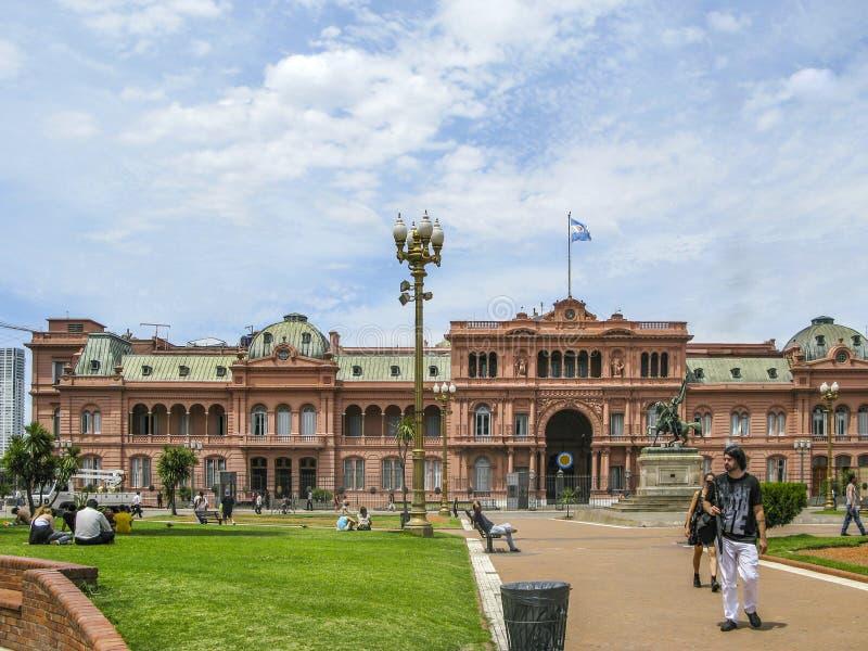 Casas Rosada (casa cor-de-rosa) Buenos Aires Argentina imagem de stock royalty free