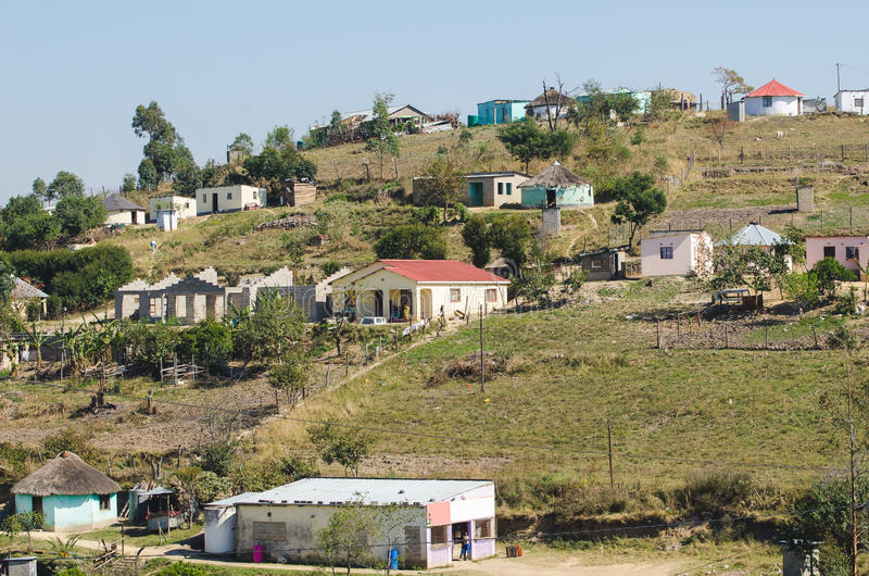 Casas rurais típicas do africano África do Sul foto de stock royalty free