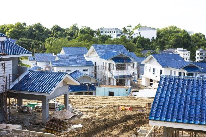 Casas sob a construção foto de stock royalty free