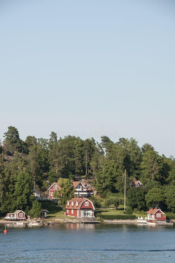 Casas Suecas Imagen de archivo libre de regalías
