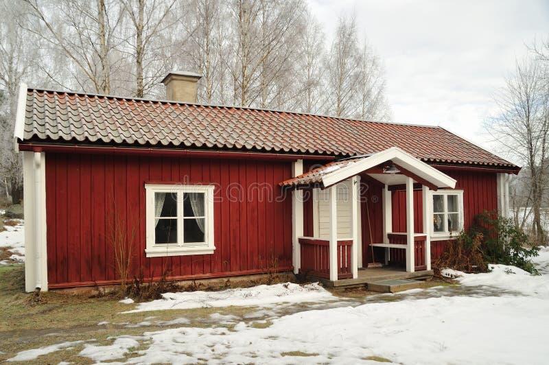 Casas suecos da vila fotos de stock