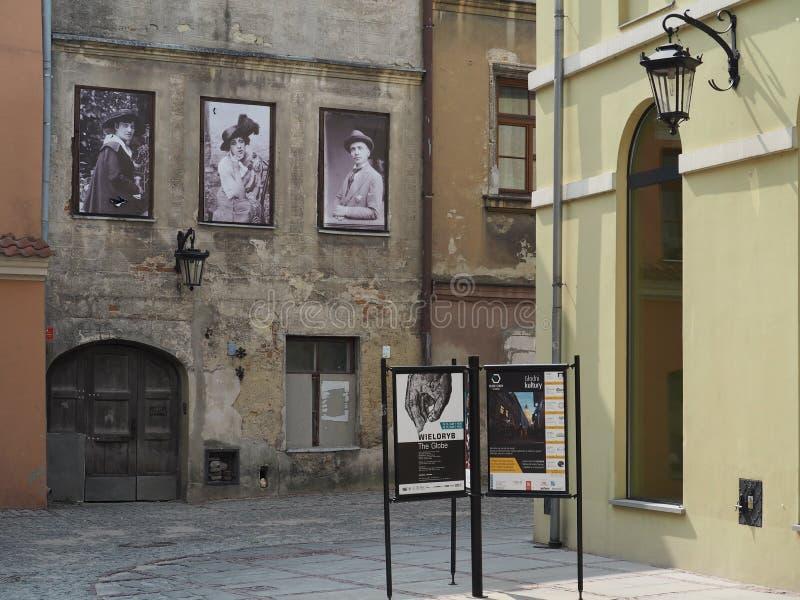 Casas típicas da cidade velha Lublin fotografia de stock royalty free