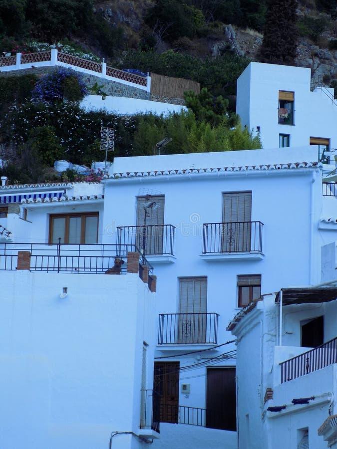 Casas típicas de Frigiliana foto de stock