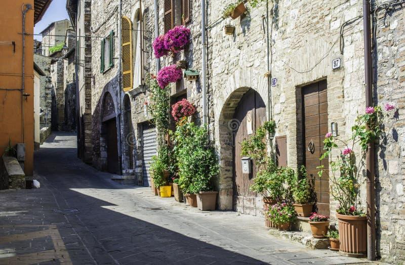 Casas típicas del italiano foto de archivo libre de regalías