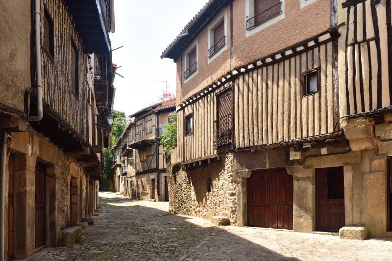 Casas típicas del pueblo medieval del La Alberca, Salamanca p fotos de archivo libres de regalías