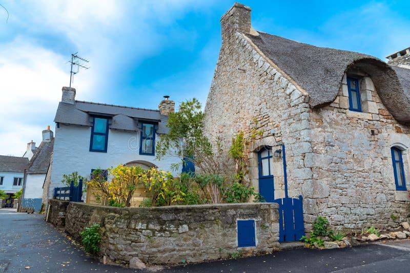 Casas típicas em Brittany fotografia de stock royalty free