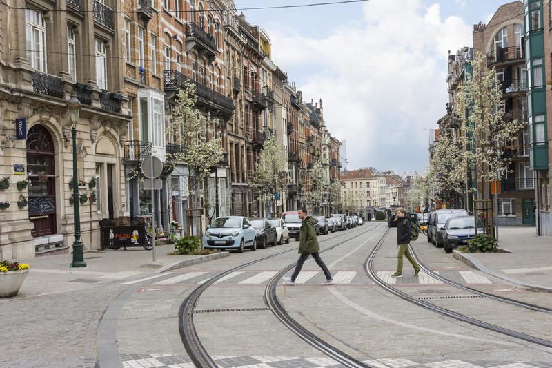 Casas típicas en Bruselas imágenes de archivo libres de regalías