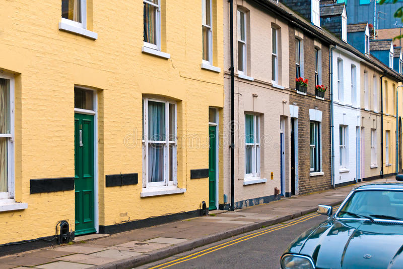 Casas terraced coloridas imagem de stock royalty free