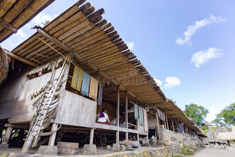 Casas tradicionais de Bena fotografia de stock royalty free
