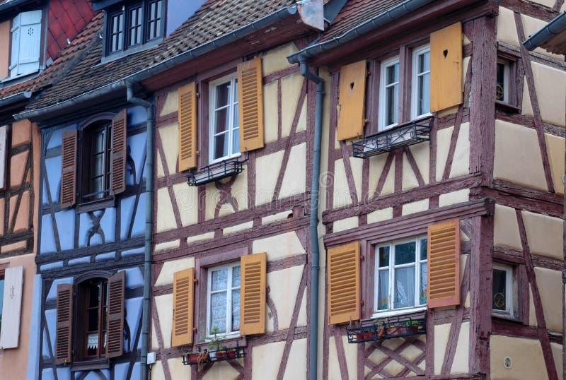 Casas tradicionais em Strasbourg imagem de stock