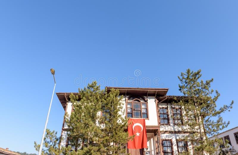 Casas tradicionais, velhas e históricas de Anatolia em Tarakli foto de stock royalty free